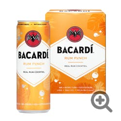 Bacardi Real Rum Cocktails Rum Punch 4-355ml Cans