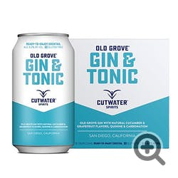 Cutwater Spirits Gin & Tonic 4-355ml Cans