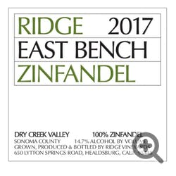 Ridge Vineyards 'East Bench' Zinfandel 2018