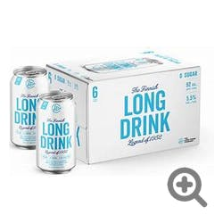 Long Drink Cocktails Zero Sugar 6-355ml Cans