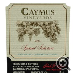 Caymus Vineyards Special Selection Cabernet Sauv 2016