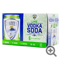 Canteen Lime Vodka Soda 6-355ml Cans