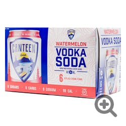 Canteen 6-355ml cans Watermelon Vodka Soda