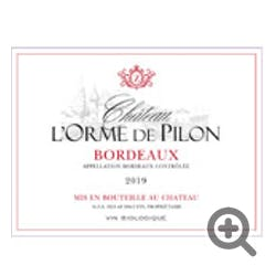 Chateau L'Orme de Pilon Bordeaux Red 2019