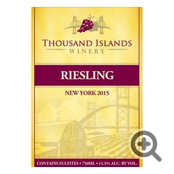 Thousand Islands Winery Riesling 2016