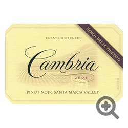 Cambria 'Bench Break Vineyard' Pinot Noir 2006