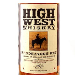 High West 'Rendezvous' Rye 92prf image