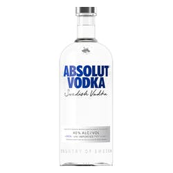 Absolut Vodka 1.0L 80proof image