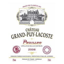 Chateau Grand Puy Lacoste Pauillac 2006 image