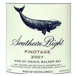 Southern Right Pinotage 2008 image
