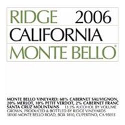 Ridge Vineyards 'Monte Bello' Cabernet Blend 2006 image