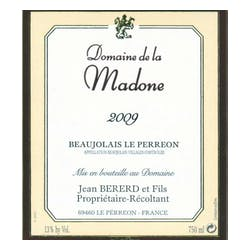 Madone Beaujolais Nouveau 'Le Perreon' Villages 2012 image