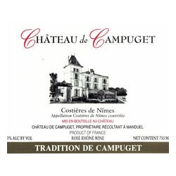 Chateau Le Campuget Tradition Rose 2017 image