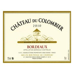 Chateau du Colombier Grand Vin de Bordeaux 2010 image