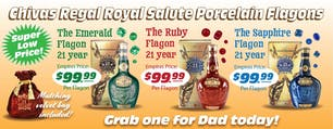 Chivas Regal Salute Porcelain Flagons